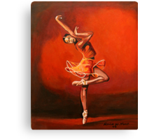 Ballet Lady Canvas Print
