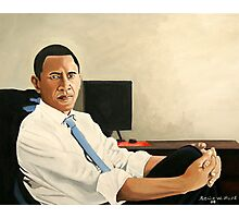 Obama Looking Presidential Photographic Print