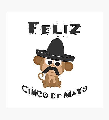 Feliz Cinco De Mayo Monkey Photographic Print