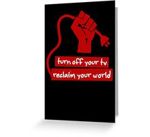 Turn Off Your TV (Red) Greeting Card