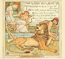 The Baby's Own Aesop by Walter Crane 1908-49 The Lion in Love by wetdryvac