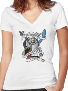 Grey Knights 7th Brotherhood  Women's Fitted V-Neck T-Shirt