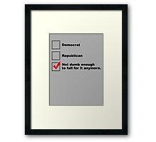 Political Checklist Framed Print