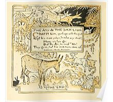 The Baby's Own Aesop by Walter Crane 1908-60 The Ass and the Sick Lion Poster