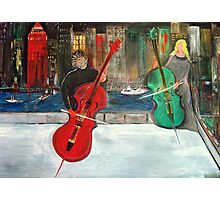 2 Cello Players /  Rooftop       (  My Paintings )  Photographic Print