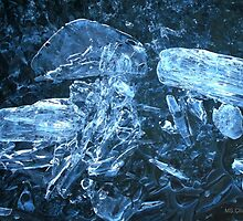 Blue Ice, Ottawa River in Early Spring by M Sylvia Chaume