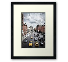 New York Taxis Framed Print