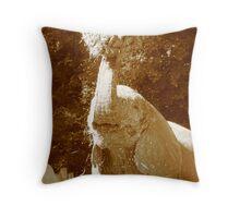 Starving Elephant Throw Pillow