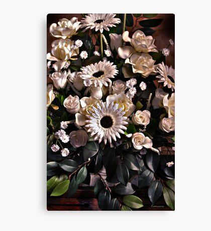Abundance (Flowers that bounce off the screen) Canvas Print