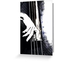 Jazz Bass Poster Greeting Card