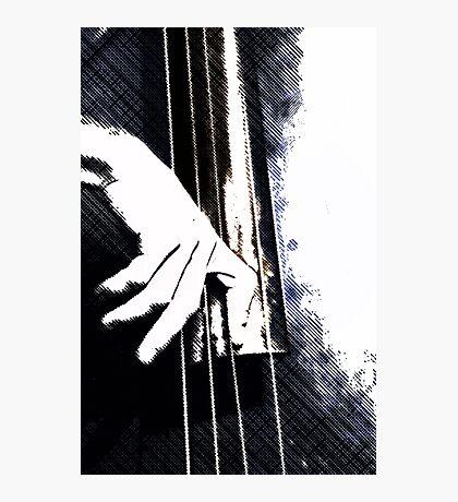 Jazz Bass Poster Photographic Print