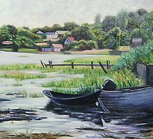 Boats at Rest on Cape Cod by Richard Nowak