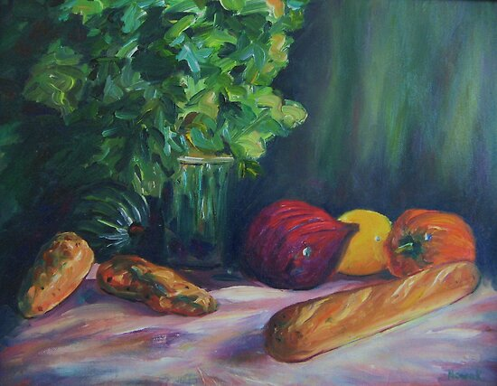 Still Life with Vegetables by Richard Nowak