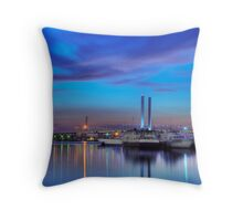 Melbourne Docklands Throw Pillow