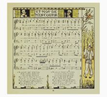 The Baby's Boquet - A Fresh Bunch of Old Rhymes and Tunes - by Walter Crane - 1900-39 Et Moi De Men Courir One Piece - Long Sleeve