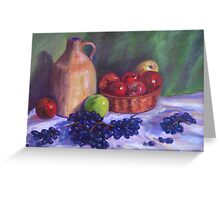 A Still Life of Fruit Greeting Card