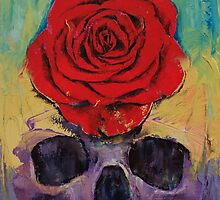 Skull Rose by Michael Creese