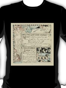 The Baby's Own Aesop by Walter Crane 1908-50 The Cat and Venus, Mice in Council T-Shirt