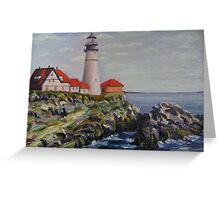 Portland Head Light House Greeting Card