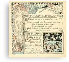 The Baby's Own Aesop by Walter Crane 1908-50 The Cat and Venus, Mice in Council Canvas Print