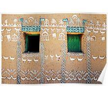 Nubian house, Egypt #4 Poster