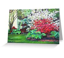 Spring Blossoms in Park Greeting Card
