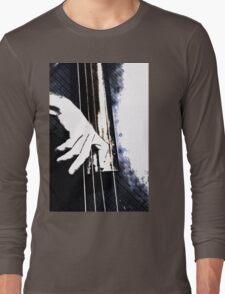 Jazz Bass Poster Long Sleeve T-Shirt