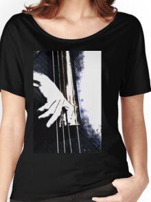 Jazz Bass Poster Women's Relaxed Fit T-Shirt