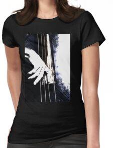 Jazz Bass Poster Womens Fitted T-Shirt