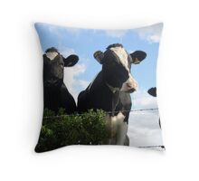 Bovine buddies Throw Pillow