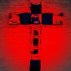 Cross in red by Tracey Boulton