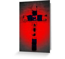 Cross in red Greeting Card