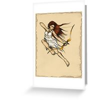 Artemis: Goddess of the Hunt Greeting Card