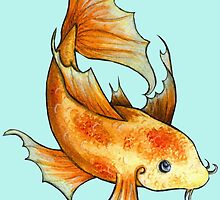 Gold and Red Koi Fish by KatherineBelt