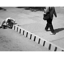 draw the line Photographic Print