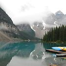 Still Early - Moraine Lake Canada by Barbara Burkhardt