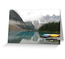 Still Early - Moraine Lake Canada Greeting Card