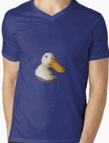 Close Up Portrait of A Cute Domestic White Duck Vector Style Mens V-Neck T-Shirt