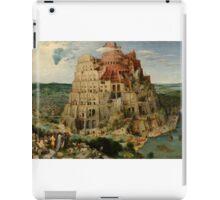 Pieter Bruegel the Elder – Kunsthistorisches Museum GG_1026. The Tower of Babel (1563) iPad Case/Skin