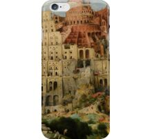 Pieter Bruegel the Elder – Kunsthistorisches Museum GG_1026. The Tower of Babel (1563) iPhone Case/Skin