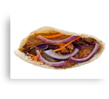 Chicken Kebab in a Pita Bread Canvas Print