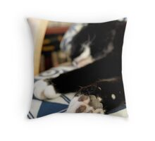 Kissy Paws Throw Pillow