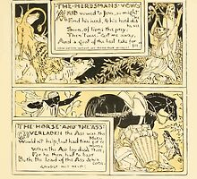The Baby's Own Aesop by Walter Crane 1908-59 The Herdsman's Vows, The Horse and the Ass by wetdryvac