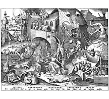 Pieter Bruegel the Elder - The Seven Deadly Sins or the Seven Vices - Invidia Photographic Print