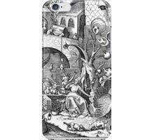 Pieter Bruegel the Elder - The Seven Deadly Sins or the Seven Vices - Invidia iPhone Case/Skin