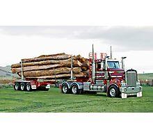 Big-Big Red Truck Photographic Print