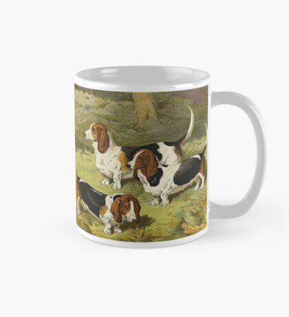 Three Happy Basset Hounds Mug