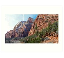 Zion National Park - Along a Hike - Panorama Art Print