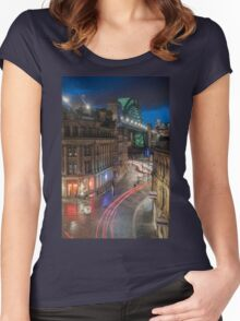 Tyne Night Lights Women's Fitted Scoop T-Shirt