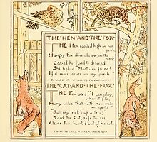 The Baby's Own Aesop by Walter Crane 1908-51 The Hen and the Fox, The Cat and the Fox by wetdryvac